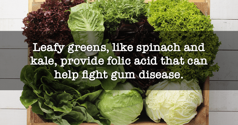 Reasons why leafy greens, like spinach and kale, are some of the best foods for your teeth