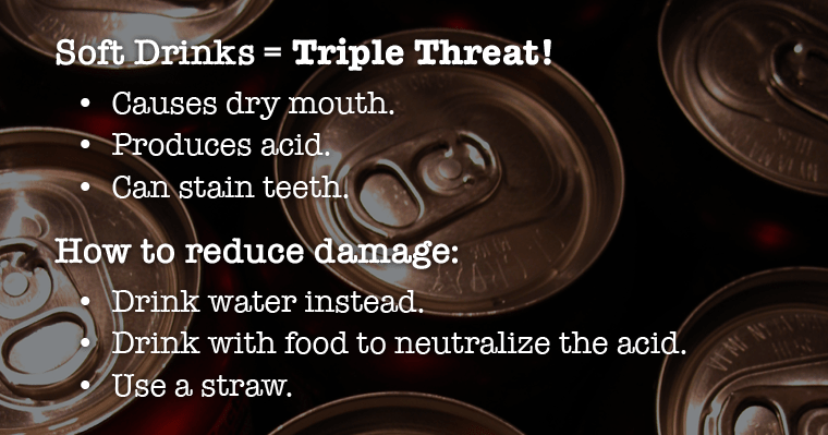 Reasons why soda is part of foods that damage teeth