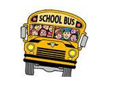 Cartoon of a school bus full of children